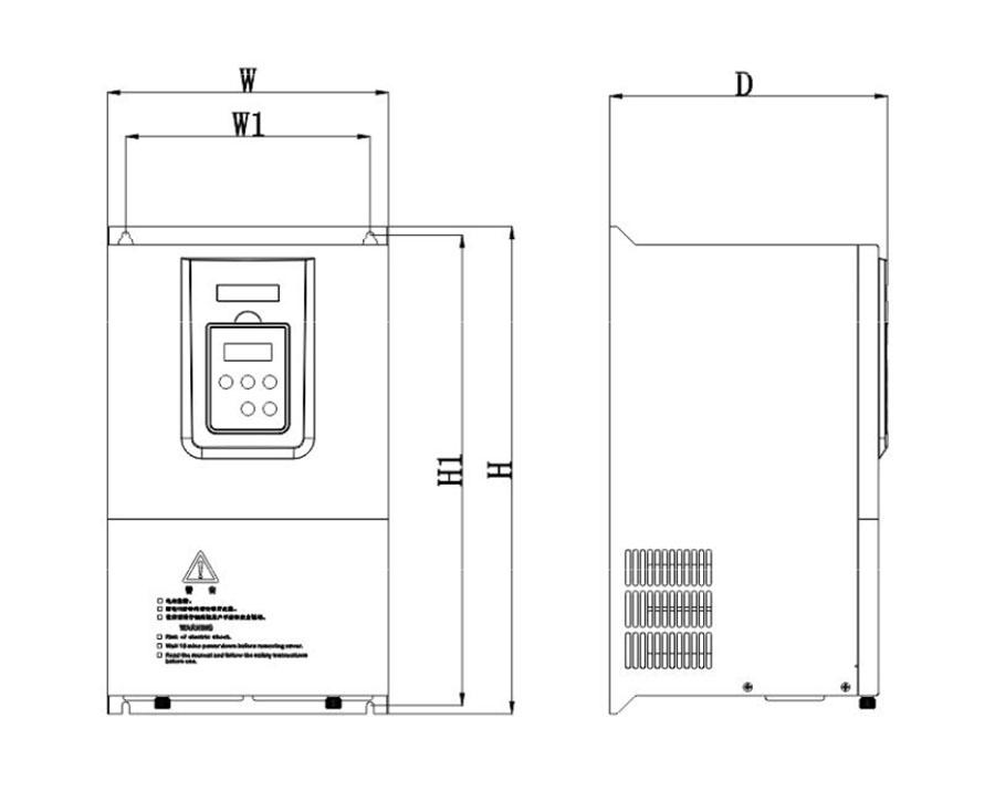 伊莱斯大功率伺服驱动器ES2-033T外形图尺寸-国产大功率伺服驱动器,伊莱斯代理商13316450013