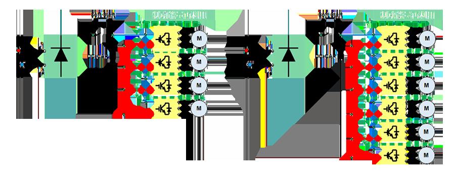 禾川伺服驱动器X3E一体机特点:共直母线设计,降低制动频次,实现能耗节省