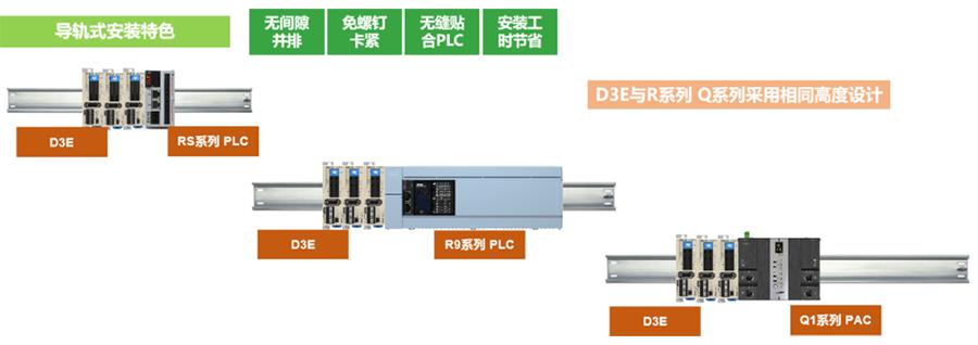 禾川低压伺服驱动器D3E导轨安装特色